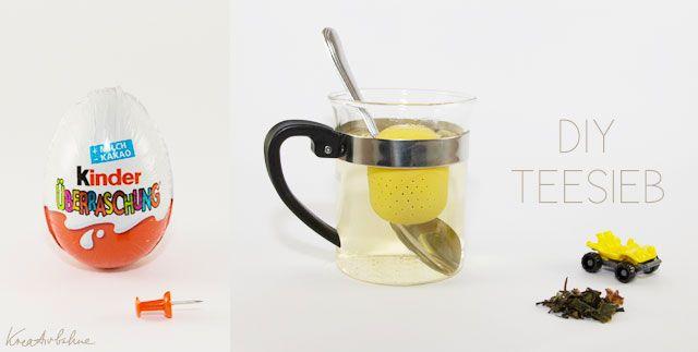 Vom Ü-Ei ein Teesieb basteln