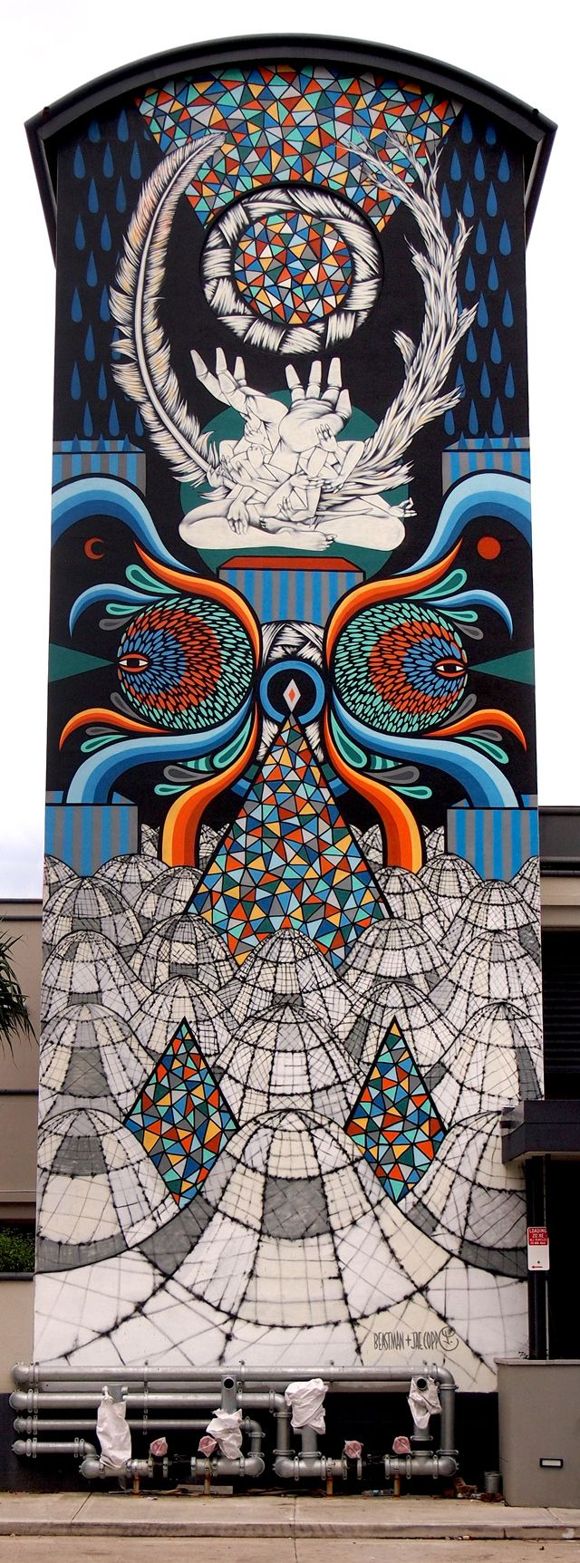 Beastman and jae copp, the hours tower mural in surfer's paradise, Australia