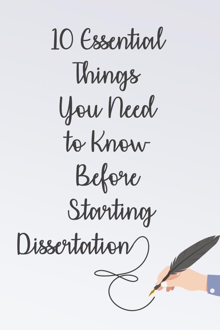 dissertation writing advice