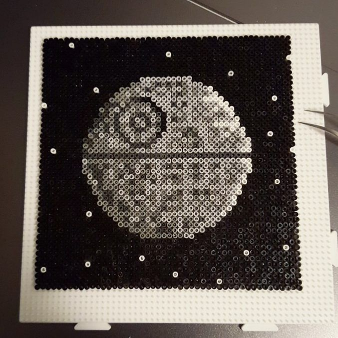 Death Star - Star Wars hama mini beads 812x12cm) by omglinnoscrafts