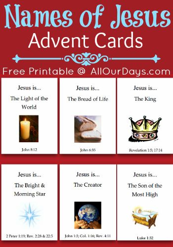 Names of Jesus cards