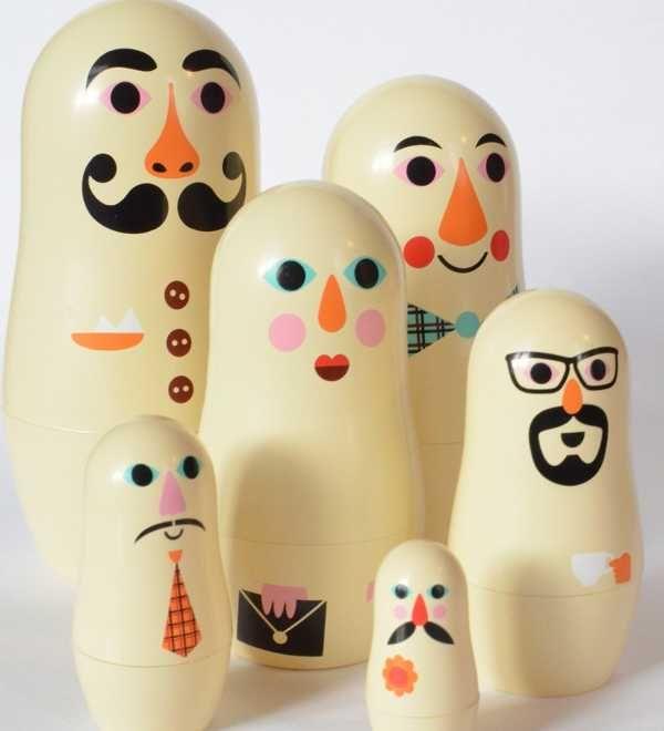 omm3 Studio Matryoshkas modern take on nesting dolls