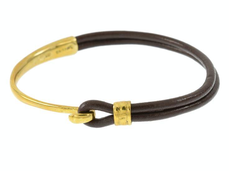 Crescent Moon Bracelet - Gold & Dark Mocha