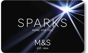 M&S Sparks card.