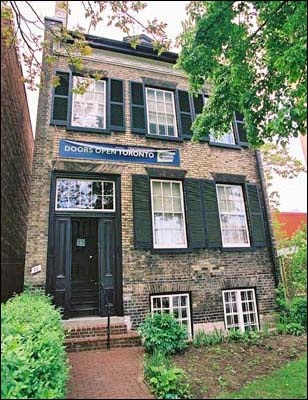 McKenzie house, Toronto, Ontario  - home to the fist mayor of Toronto; now a heritage site  - McKenzie's spirit has been seen many times in the upper bedroom  - the piano on the main floor plays by itself and a rocking chair in the basement rocks on its own