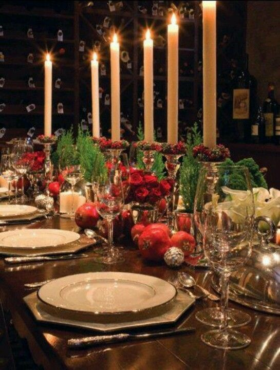 264 best christmas dinner table settings images on pinterest