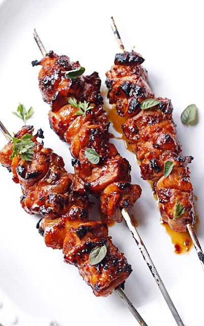 Sambal Chickenless Skewers - try using #gardein or seitan they are fab