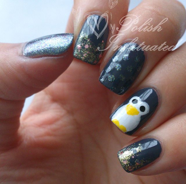 Penguin Nail Art Designs: 118 Best Penguin Nails Images On Pinterest