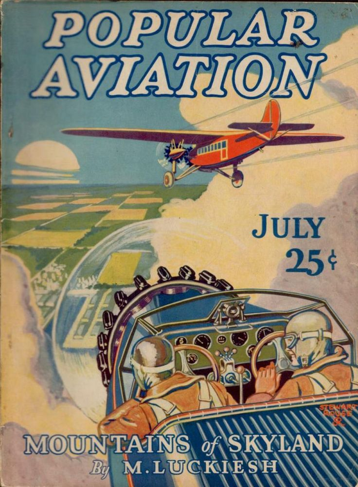 Flying Magazine's July 1928 Cover #vintage #aviation #flying