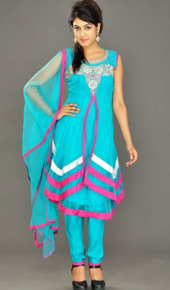 Light blue salwar