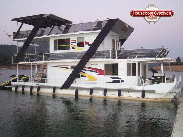 Houseboatgraphicsoverlayvinyldecalsboatgraphics House - Custom designed houseboat graphics