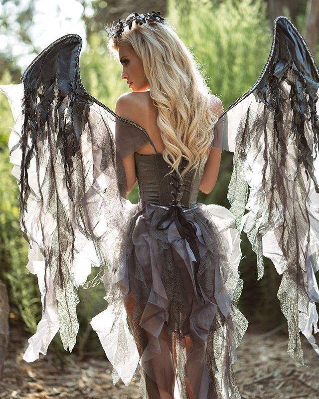 Bring the magic this Halloween...✨Shop this Deluxe Dark Angel Costume now at Yandy.com/i!✨
