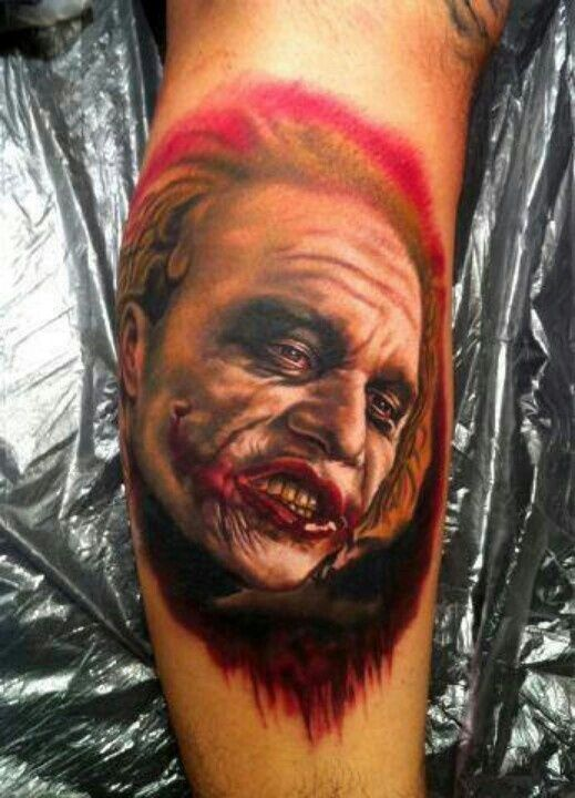 I  cant get over the work around the mouth :-) Dark | tattoos picture joker tattoo