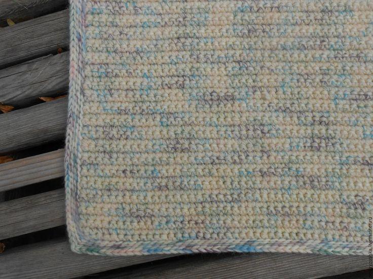 """Купить вязаный коврик """"Дор Блю"""" - бежевый, вязаный коврик, вязаный коврик крючком"""