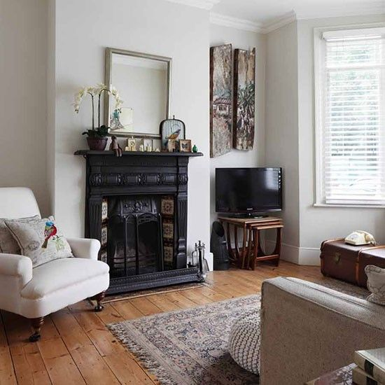Living room | neutral living room - Step inside an updated terrace house in  southeast London