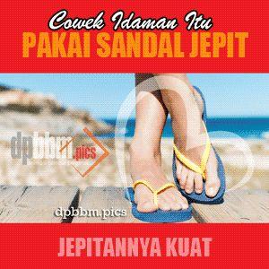 DP BBM Sandal Jepit Lucu Gokil