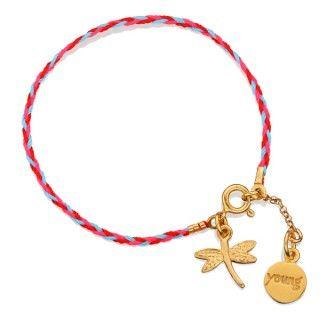 Kolorowa plecionka z ważką.  #young #mokobelle #jewelry #teen #teens #biżuteria #dzieci #nastolatki #dodatki #bracelet #bransoletka