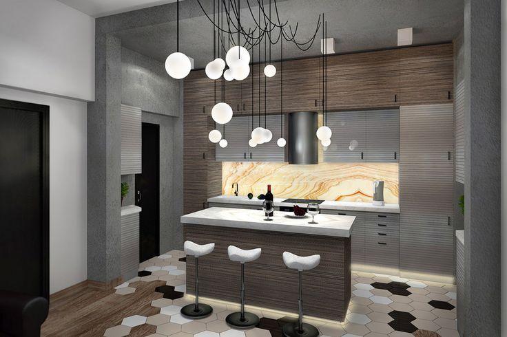 Кухня с характером, студия дизайна HOLZLAB - Кухня в современном стиле | PINWIN - конкурсы для архитекторов, дизайнеров, декораторов