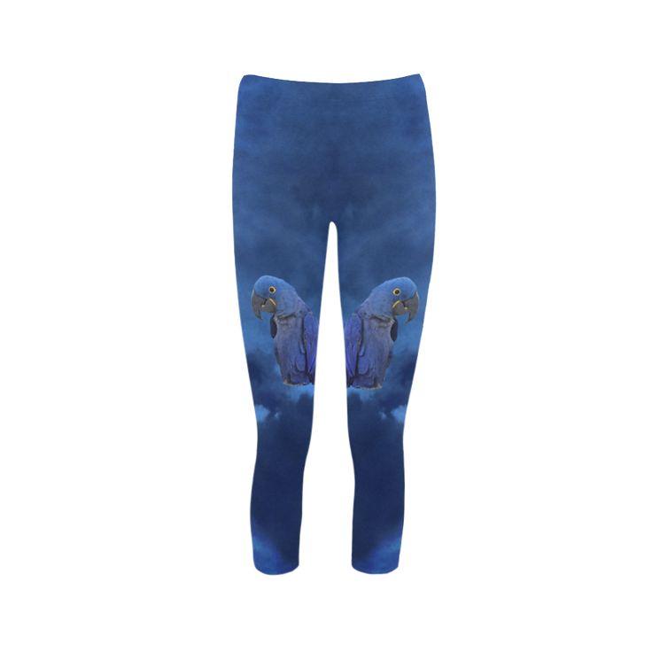 Hyacinth Macaw Capri Legging. FREE Shipping. FREE Returns. #lleggings #parrots
