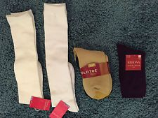 NEW 5 pair Socks 2 knee hi xhilaration, 2 Ankle Gold Toe, 1 Merona Ankle