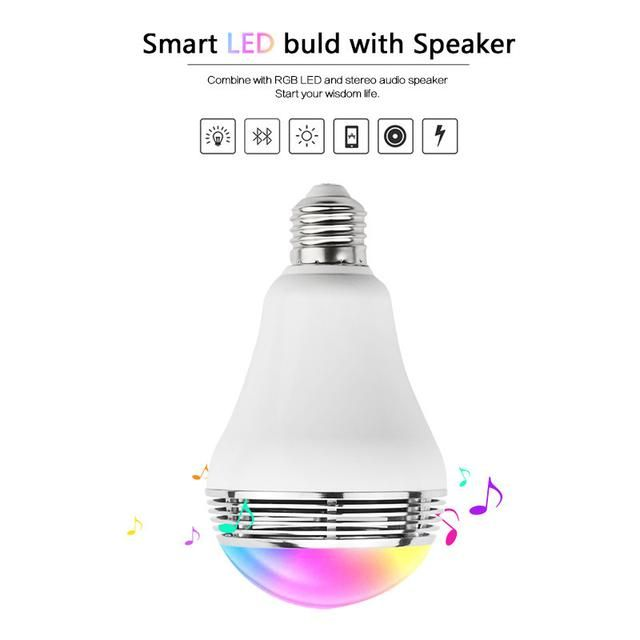 Let colors and music fill up your living space! Screw in a Bluetooth light globe speaker.Stream music from any device!
