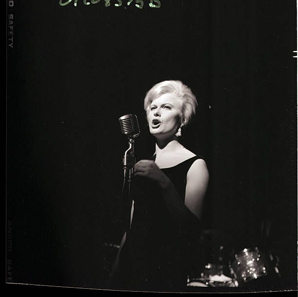 - New York, NY- Swedish singer Monica Zetterlund during her debut at the Basin Street East night club in New York City, December 15, 1959. It was her first visit to the United States. Photo shows her singing on stage close-up,