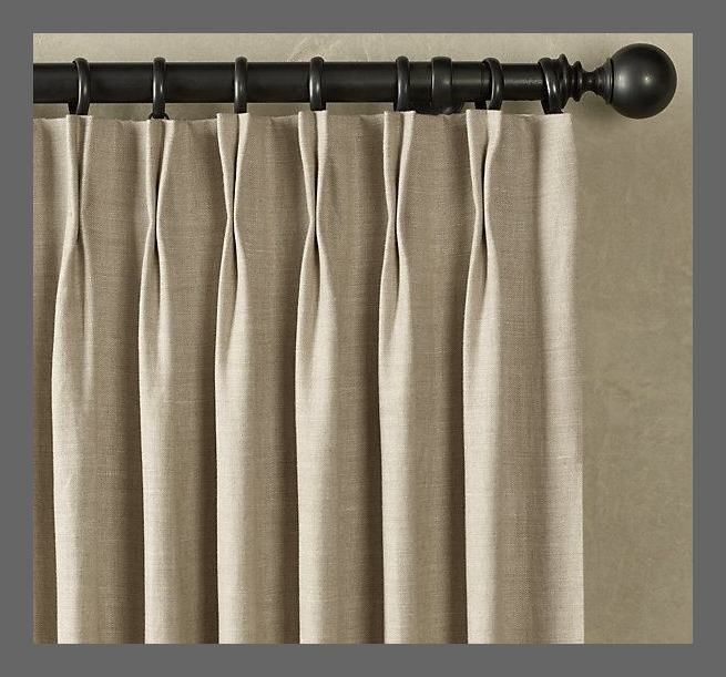 Double Pinch Pleat Draperies Curtains Linen Curtains