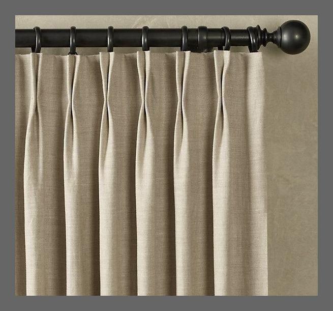 double pinch pleat  draperies  Curtains Linen curtains