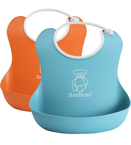 Soft Bib • Orange/Turquoise, 2-pack • 2-pack -- perfect for travel