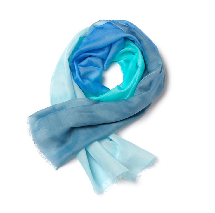 GEOX for Valemour Blue Scarf