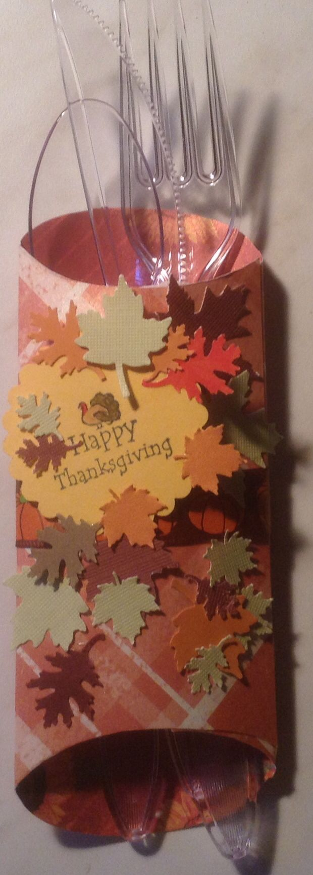 Utensil wrap for Thanksgiving or any fall related event. Made using a pillow box punch & 36 best Cards: Punch Board Pillow Box images on Pinterest ... pillowsntoast.com
