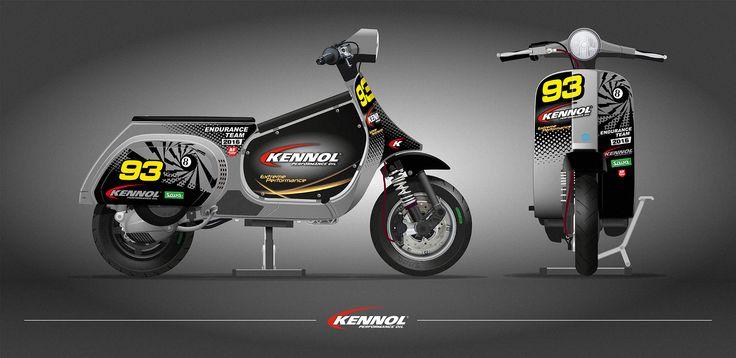 KENNOL Vespa graphic design researches for 2016 season and Zuera Vespa resistencia