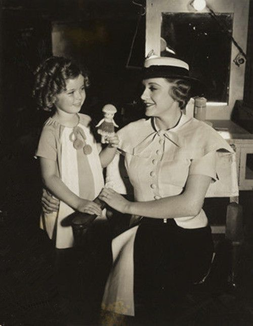 Shirley Temple is showing her doll to Rosemary Ames,Our Little Girl,1935.