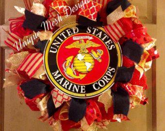 Marina corona, guirnalda militar, día del padre regalo, Memorial Day, día de los veteranos, regalo del día de graduación