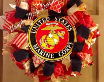 Army Wreath US Army Wreath Military Wreath by UniqueWreathDesign