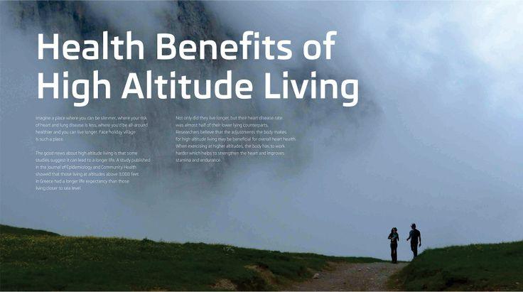 Face Holiday Village | Villas in Ooty | Brochure | Page - 23 | Health Benefits of High Altitude Living