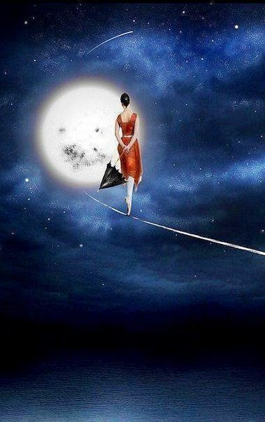 ♥•*¨*• and on empty dates, empty nights, my umbrella helps me fly and takes me high ...near You.