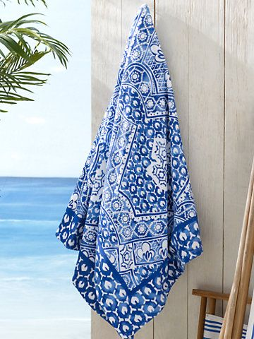 Textured Mosaic Beach Towel - RalphLauren. For MORE of SUMMER follow http://www.pinterest.com/happygolicky/summer-style-jewelry-clothing-swimsuits-accessorie/ now