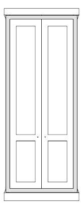 Fitted Wardrobe Victorian style - Full farme Built in Victorian design Wardrobe