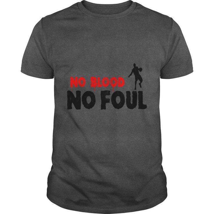 Basketball Slogan No Blood No Foul Used Look Retro