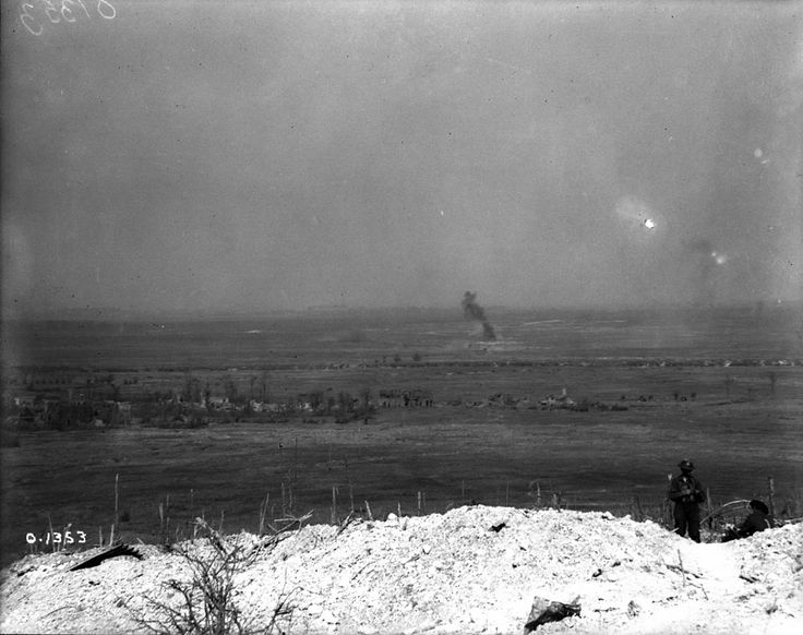 The battlefield as viewed from Vimy Ridge. Canada. Dept. of National Defence - W.W.I./Library and Archives Canada/PA-001809 - Shot of the battlefield from the top of Vimy Ridge taken in May of 1917