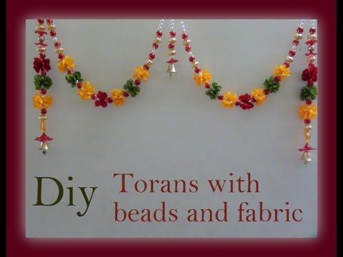Diy Torans with beads and fabric - YouTube