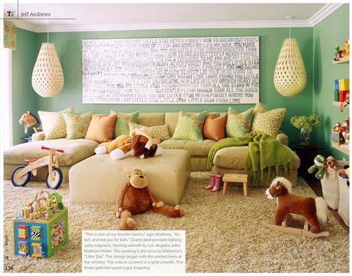 playroom / family room that both parents and children can enjoy. #kids #decor