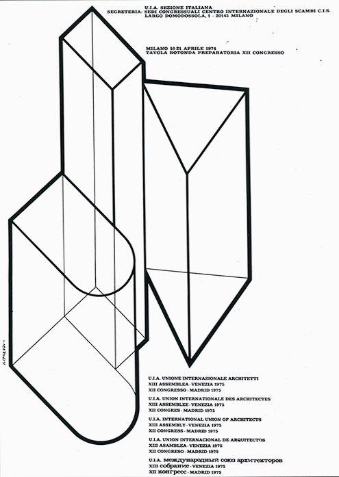 giancarlo iliprandi uia unione architetti poster