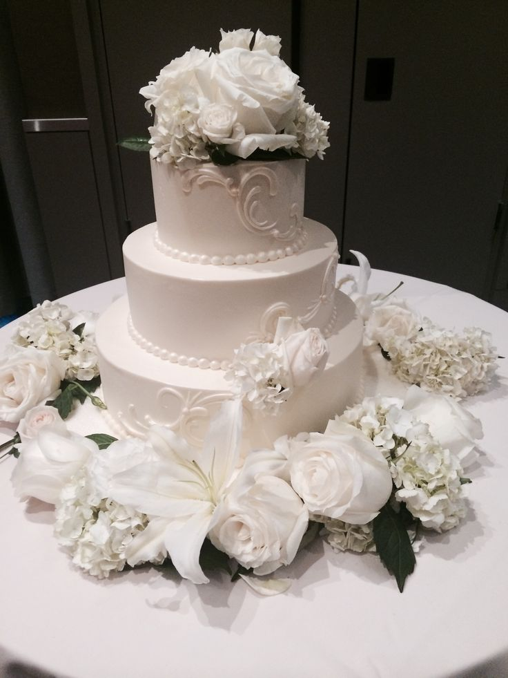 wedding receptions sacramento ca%0A Three tiered elegant cake at Hyatt Regency Sacramento
