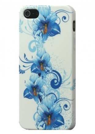 Coque iPhone 5 semi rigide fleurs bleu   http://www.phonewear.fr/14126-thickbox/coque-iphone-5-protection-minigel-semi-rigide-fleurs-bleu-film.jpg  à 5,50€