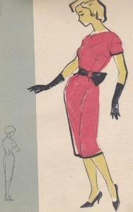 Нарядное платье из тафты