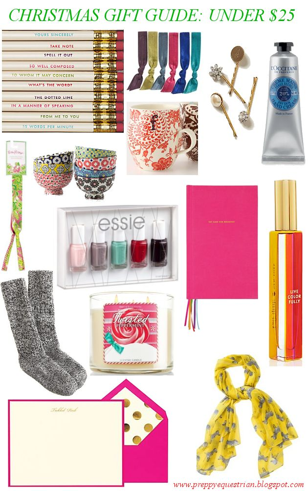 The Preppy Equestrian: Christmas Gift Guide: Under $25