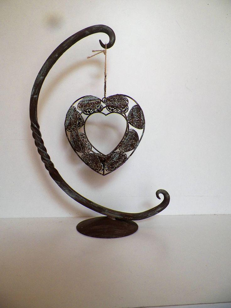 Metal Forge Art, Handmade Art, Sculpture Metal Art, Forge Home Decor, Metal Candle Holder , Handmade Art, Metal Canlde, Housewarming Gift, by MVhandmadetheory on Etsy