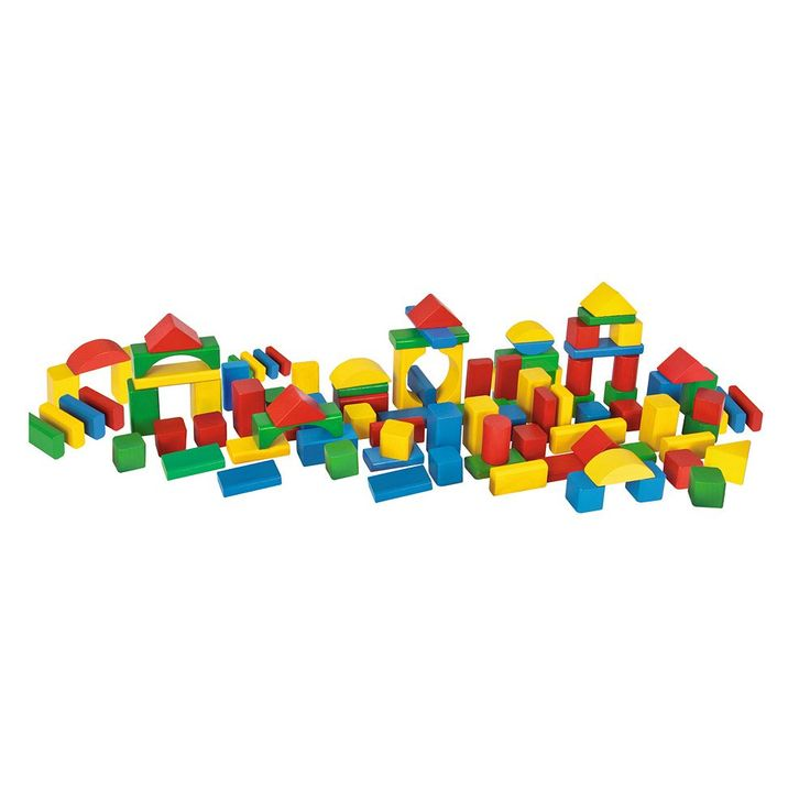 Eichhorn Heros 100-Piece Color Wooden Blocks, Multicolor